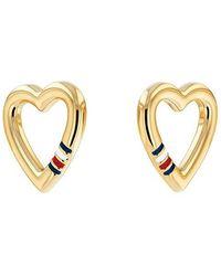 Tommy Hilfiger Casual Core Heart Earrings - Pink