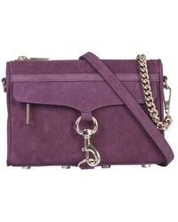 Rebecca Minkoff Mini Mac Leather Bag - Purple