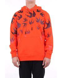 McQ Sweatshirts Hoodies Men Orange