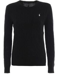 Ralph Lauren - Women's 211525764002 Black Wool Sweater - Lyst