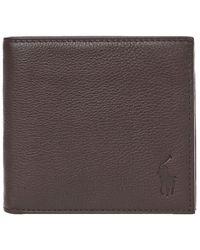 Ralph Lauren Billfold Wallet – Pebbled - Brown