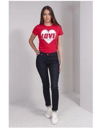Love Moschino Metal Heart Jeans Colour: Indigo - Blue