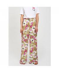 Essentiel Antwerp Stardust Wide Leg Floral Pants - Multicolor