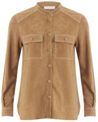 COSTER COPENHAGEN Suede Shirt - Brown