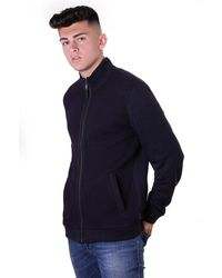 Ted Baker Mens Spied Ls Funnel Neck With Panel - Blue