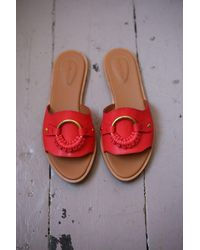 See By Chloé Cherry Red Leather Slide