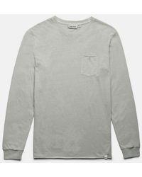 Rhythm Camiseta Ls Everyday Wash - Washed Sage - Gray