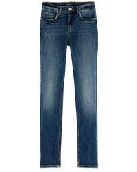 Maison Scotch Indigo Plant Stretch Mid-rise Skinny Fit Jeans - Blue