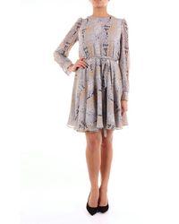 Alessandro Dell'acqua Grey Fantasy Short Dress