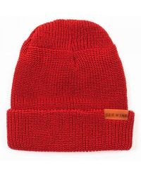 Red Wing Wing 97493 Merino Wool Beanie Hat - Red