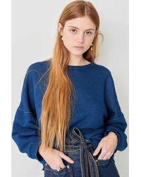 Sessun Ito Oversize Indigo Sweater - Blue