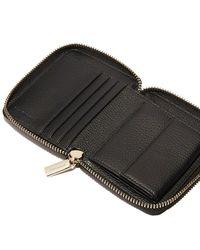 Coccinelle Metallic Zip Around Wallet Soft Small - Noir - Black