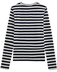 Petit Bateau Women's Iconic Striped Long-sleeve T-shirt - Blue