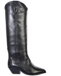 Isabel Marant Denvee Leather Boots - Black