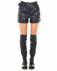 Silvian Heach Women's Pga20213shblack Black Shorts