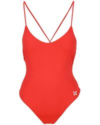 Off-White c/o Virgil Abloh One Piece Swimsuit - Red