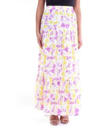 Glamorous Multicolour Long Skirt - Pink