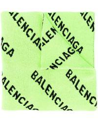 Balenciaga Men's 621020t15673532 Yellow Wool Scarf
