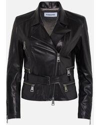 Sylvie Schimmel Black Belted Leather Jacket