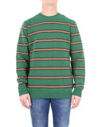 Altea - Sweater Men Green And Camel - Lyst