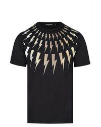 Neil Barrett Metallic Bolt T Shirt - Black