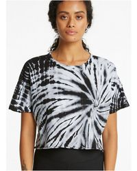 Year Of Ours Tie Dye Cropped Tee - Black