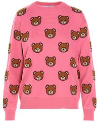 Moschino Fuchsia Other Materials Sweater - Pink