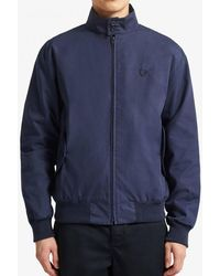 Fred Perry Made In England Harrington Jacket J7320 In Navy - Blue