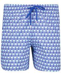 Vilebrequin Mens Mahina Swim Shorts - Blue