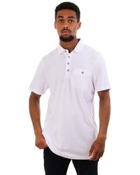 Ted Baker Hughes Textured Ss Polo Top - White
