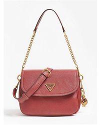 Guess Destiny Shoulder Bag Colour: Merlot - Red