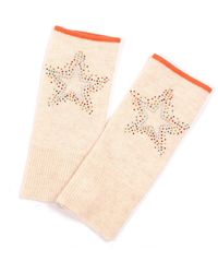 Adeela Salehjee Munich Oatmeal Fingerless Glove In Solid Color , Style:scatter Star - Gray
