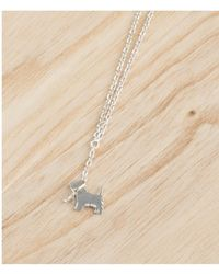 Amanda Coleman - Scottie On A Lead Necklace In Silver - Lyst