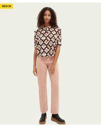 Scotch & Soda Scotch & Soda Tailored Straight Leg Jeans - Dusky - Pink