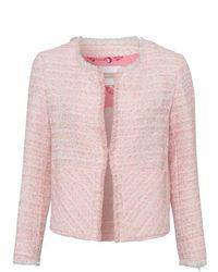Riani Pink Frayed Edged Boucle Jacket