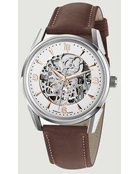 Lip 40mm Himalaya Skeleton Watch - Brown