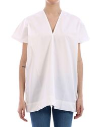 Plan C Cotton Blouse White