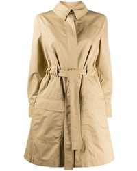 Moschino Women's V061505171081 Beige Cotton Trench Coat - Brown