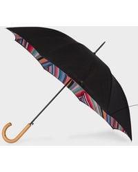 Paul Smith Umbrella W1a-umbw-aswirl-90 - Black