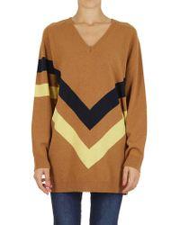 Erika Cavallini Semi Couture - Boxy Striped Print Sweater - Lyst