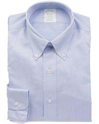 Brooks Brothers Men's 2989lightblue Light Blue Cotton Shirt