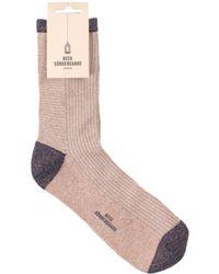 Becksöndergaard - Dina Stripe Sock In Strawberry Cream - Lyst