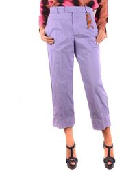 The Gigi Cropped Pants In Purple