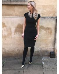Diva Pencil Dress By - Black