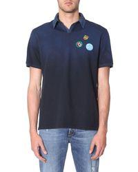 Golden Goose Men's G34mp526z2 Blue Cotton Polo Shirt