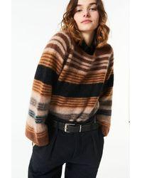 Antik Batik Aw21 Moya Mohair Sweater Camel - Brown