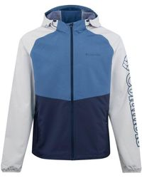 Columbia Panther Creek Water Resistant Jacket Blue