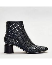 Halmanera Boots Anya Wide Heel - Black