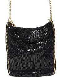 Laura B Deborah Gunmetal/gold Leather Disco Bag - Metallic