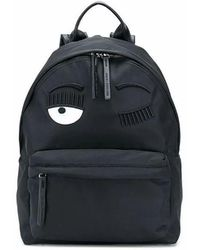 Chiara Ferragni Women's Cfz076black Black Leather Backpack
